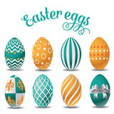 Easter egg collection on white Royalty Free Stock Photo