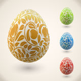 Easter egg with floral ornament Royalty Free Stock Photography