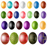 Easter egg color sample Stock Images
