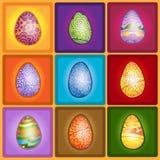 Easter egg color set Stock Photos
