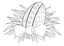 Easter egg colorable Royalty Free Stock Images
