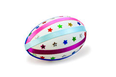 Easter Egg with colored ribbons and stars Royalty Free Stock Photography