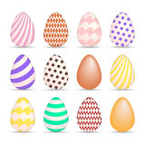Easter Egg Colorful icons set Royalty Free Stock Image