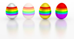 Easter egg colorful metallic rainbow color Stock Images