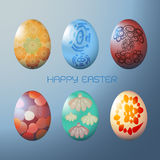 Easter egg with colorful pattern Royalty Free Stock Photo