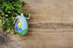Easter egg with colorful rabbit Royalty Free Stock Photos
