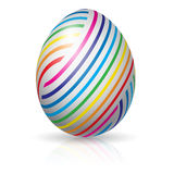Easter egg with colorful stripes Royalty Free Stock Photography