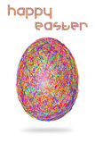 Easter egg of colorful stripes on white background Royalty Free Stock Images