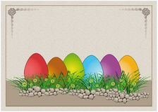 Easter egg Colors Paper Card Royalty Free Stock Image