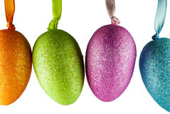 Easter egg. Coloured easter egg on reflex background royalty free stock photography