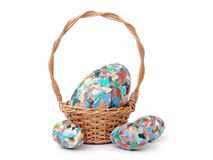 Easter egg composition Stock Images