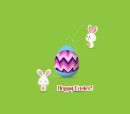 Easter egg connecting bunny together Stock Images