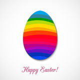 Easter egg consisted of rainbow ribbons. Vector design for any decoration. Creative concept stock illustration
