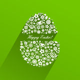 Easter egg consisting of white flowers with shadow Stock Images
