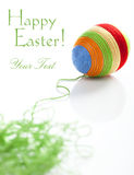 Easter egg covered with various colors wool Royalty Free Stock Photography