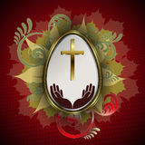Easter egg with cross Royalty Free Stock Images