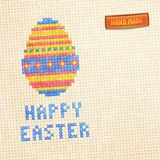 Easter Egg Cross-Stitched Background. Stock Image