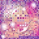 Easter egg crystall pink glass spring concept Stock Photo