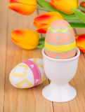 Easter Egg in a Cup Stock Photos