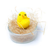 Easter egg cup on white background Stock Photos