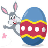 Easter Egg with Cute Bunny. Smiling. Useful also as Easter greeting card. Eps file available royalty free illustration
