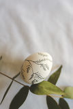 Easter egg decorated with branches Stock Photos