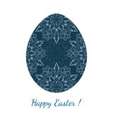 Easter egg decorated floral seamless ornament Stock Images