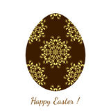 Easter egg decorated floral seamless ornament Royalty Free Stock Images
