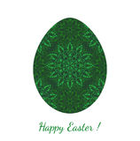 Easter egg decorated floral seamless ornament Stock Photos