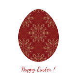 Easter egg decorated floral seamless ornament Royalty Free Stock Photography