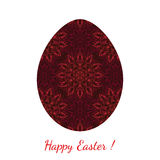 Easter egg decorated floral seamless ornament Stock Photography
