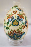 Easter egg decorated with flowers made by decoupage technique Royalty Free Stock Photos