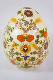 Easter egg decorated with flowers made by decoupage technique Royalty Free Stock Photography