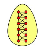 Easter egg decorated with laces and lacing. Flat. Vector vector illustration