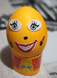 Easter egg, decorated a man Stock Images