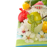Easter egg decorated with ribbon Royalty Free Stock Images