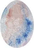Easter egg rural spot sea tender royalty free illustration