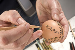 Easter egg decorating Royalty Free Stock Image