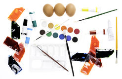 Easter egg decorating Stock Images