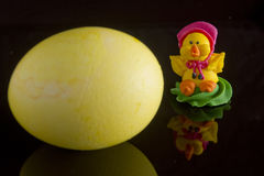 Easter egg and decoration for the cake Royalty Free Stock Images