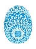 Easter egg with delicate openwork ornament. Blueand cyan color. Easter egg with delicate original openwork ornament. Blueand cyan color. Vector graphics stock illustration