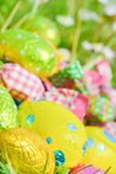 Easter egg deposited on the prairie grass Royalty Free Stock Photography