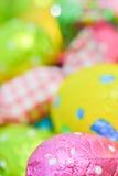 Easter egg deposited on the prairie grass. Colorful Easter egg deposited on the prairie grass Stock Images