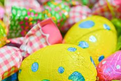 Easter egg deposited on the prairie grass. Colorful Easter egg deposited on the prairie grass Stock Photography