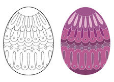 Easter egg design Stock Images