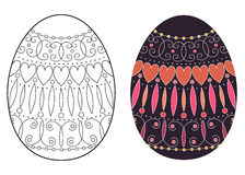 Easter egg design Royalty Free Stock Image