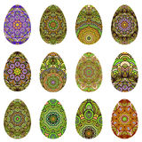 Easter egg design set Stock Photos