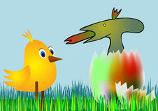 Easter egg - disagreeable surprise Stock Photo