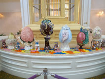 Easter Egg Display Royalty Free Stock Photography
