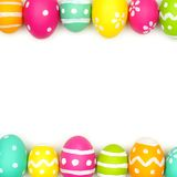 Easter egg double border over white Royalty Free Stock Photo